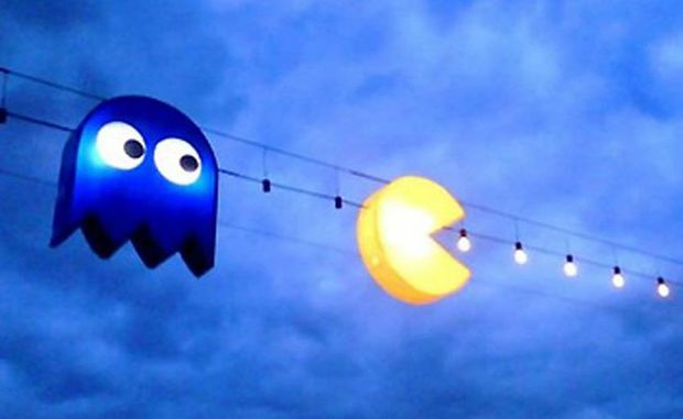 A special art installation dedicated to Pac Man.