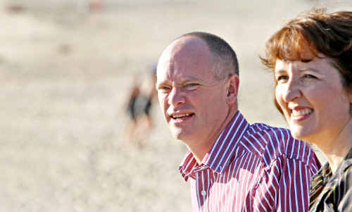 Fiona Simpson with LNP leader Campbell Newman.. She says an LNP government will do more to reduce rising living costs.