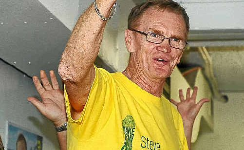 Clarence MP Steve Cansdell celebrates his win in the NSW State election on Saturday night.