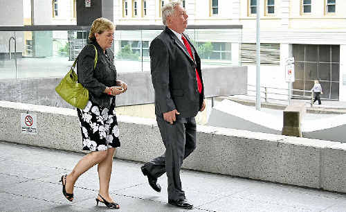 Denise and Bruce Morcombe leave Brisbane Magistrates Court yesterday.