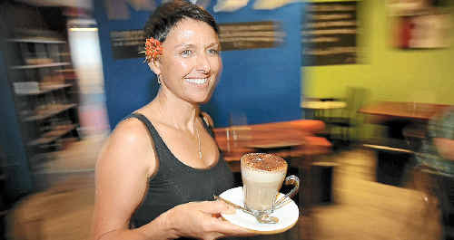 Nude Deli manager Carlene Sherwell, thinks Campbell Newman as Queensland premier would be good for business and the average family.