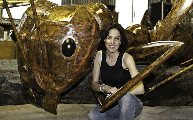 NEXT BIG THING: Amanda Feher's giant meat ant will be the focal point of a new $250,000 park in Augathella.