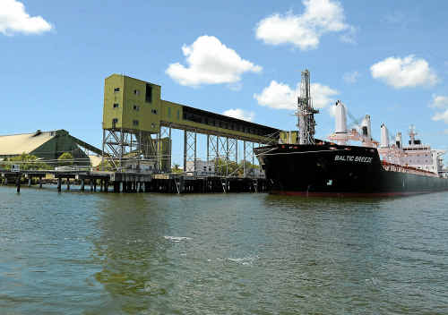 The sugar loading terminal at Bundaberg Port has suffered a number of closures this year due to the weather.