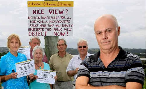 Rosalind Steel, Les and Val Zahn, Richard Wright, Bruce Steel and Michael Connelly are urging residents to join the fight against a proposed sound wall.