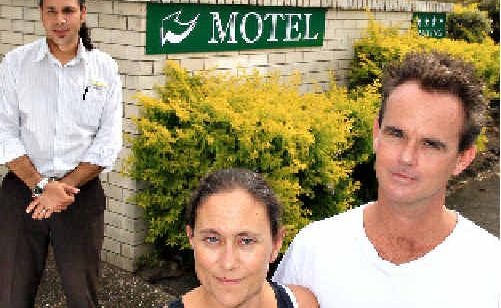 Motel managers David and Nellie Jones, with real estate agent Assi Dadon, are expecting strong interest in the property.