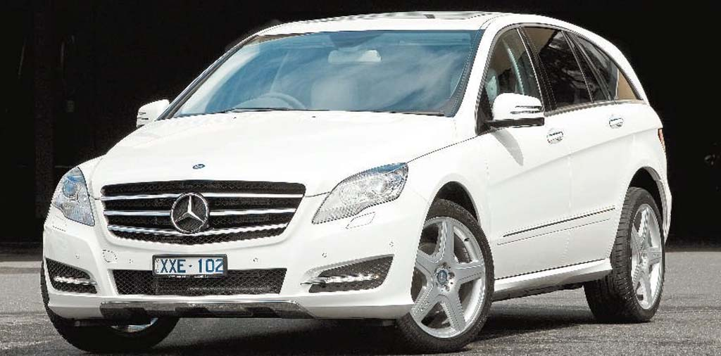 Mercedes has tried hard to distance the R300 from the general look of a people-mover.