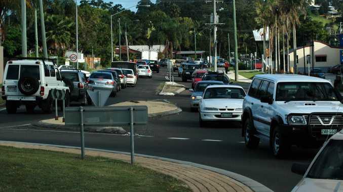 Congestion on Sugar Road.