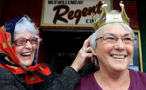Jo Newton and Heather McLachlan prepare to meet the king.