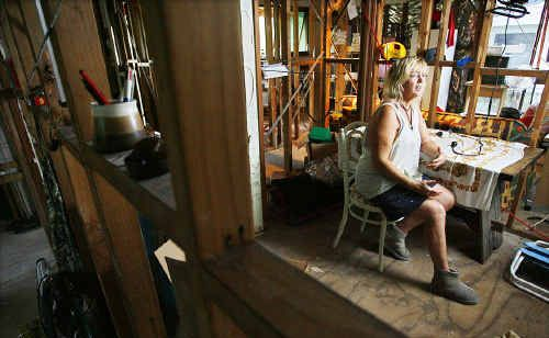 Margaret-anne Jensen dreads the onset of winter in her badly flood-damaged Tivoli home.