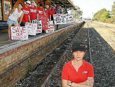 Trains on our tracks spokeswoman Karin Kolbe.