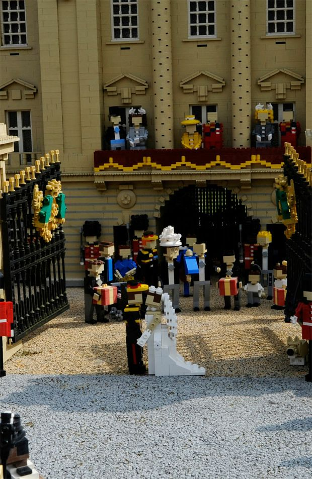 Prince William's forthcoming wedding has been created in miniature, with a version made from LEGO.