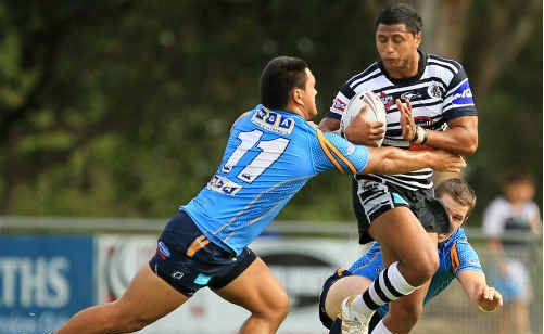 Dominique Peyroux on the boil. He could switch to the centres for tomorrow's big game at Piggabeen.