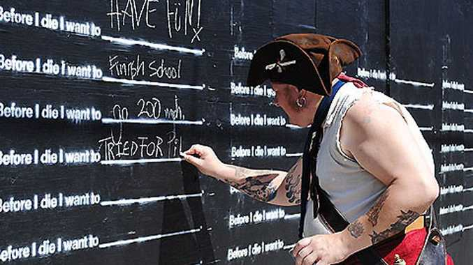 Share what's on your 'bucket list' thanks to a public art installation in New Orleans which asks what you would like to do before you die.