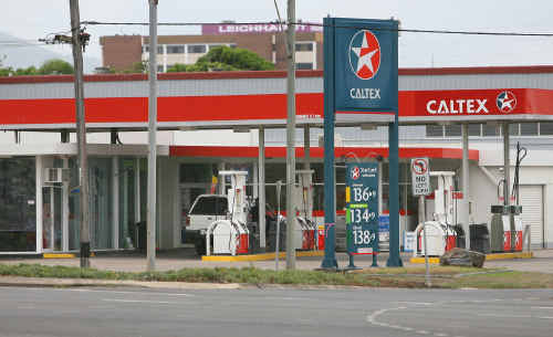 The Caltex service station on the corner of George Street and William streets has been held up by masked robbers twice in just over two months.
