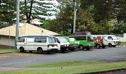 Campervans in the public carpark at Sunshine Beach are breaking the law if they stay overnight.