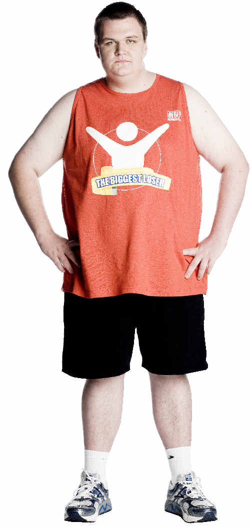 Nathaniel Challenor is still in weight-loss training despite being voted off the TV reality show, The Biggest Loser. Stephen Baccon