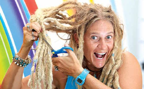 "Surfer Leanne ""Bluey"" Gilkes will lose her locks for the Clip for Cancer campaign after raising almost $11,000."