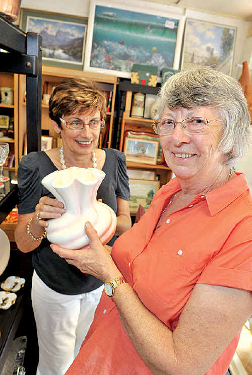 Bloomhill op shop volunteer June Appleton loves knowing she is giving back to the community.