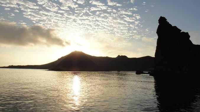 Sunrise at the Galapagos Islands.