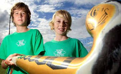 Jaron Wilson and Owen Vandendriest are part of the Lismore District Catholic Schools hockey team.