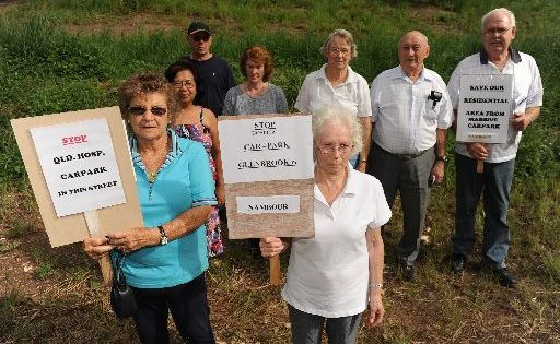 The Glenbrook Drive Concerned Citizens Action Group, is protesting the proposed 200 space park-and-ride facility for Nambour General Hospital staff.