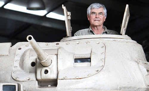 Rod Keys shows of his 1942 General Grant tank that did duty during World War II.