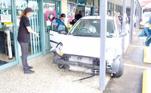 A Beerwah shop was extensively damaged after a car crashed into it.