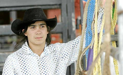 Mitch Robertson is looking forward to tangling with Fairybower Special in the Junior Bull Ride.