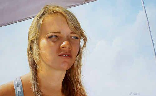 Thomas Macbeth's painting of Jessica Watson which is a finalist in the Archibald prize.