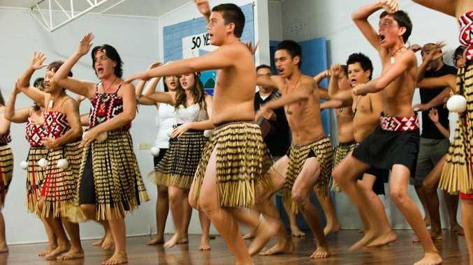 Members of Nga Maunga Wairua dancing up a storm.