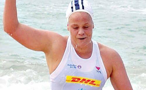 Miranda Bell heads for a comfortable victory at Kurrawa yesterday.