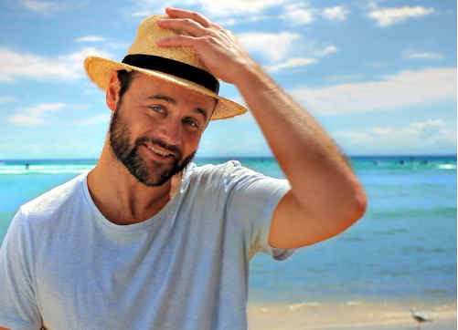 Gyton Grantley, who recently starred in Underbelly, is helping promote Queensland as a holiday destination.