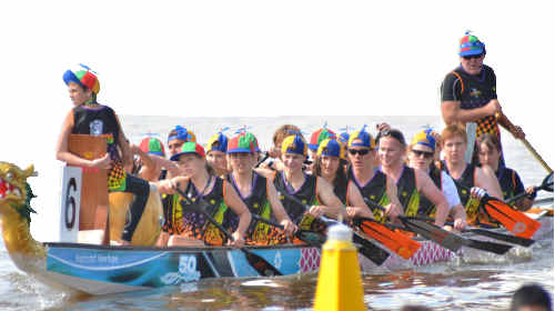 Grafton Dragon Boat Club's Torpedos team turned some heads before the Australian championships even started in Canberra. Fortunately, results matched their outfits.