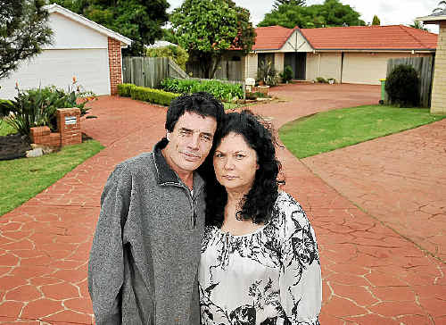 Deseree Hogan, with her friend Bryan Shearer, claims she is being victimised by her stuck-up neighbours for living in a social housing home.