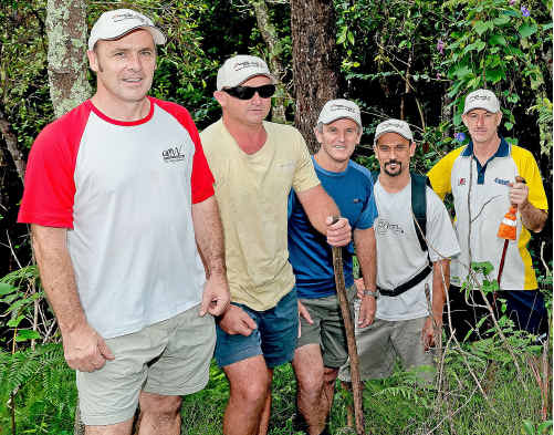 Members of the Kokoda Track team, before tackling the real thing.