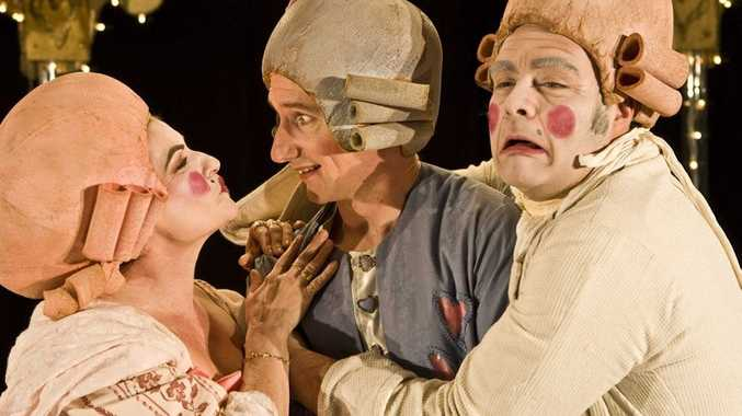Performers in The Marriage of Figaro, by Co-Opera, which is fresh from a successful European tour.