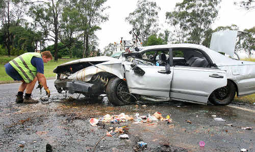 Matthew Reibelt lost his wife in this fatal crash on the Warrego Highway on April 21, 2010.