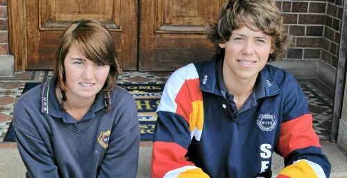 Samantha Burton and Declan Starasts are in regional basketball teams.