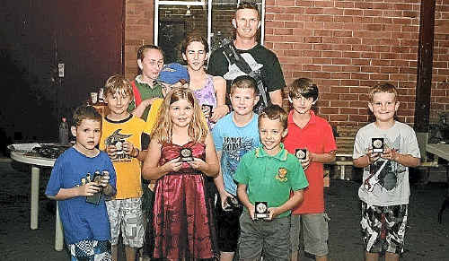 Tucabia's junior cricketers following their award presentation at Westlawn on April 7.