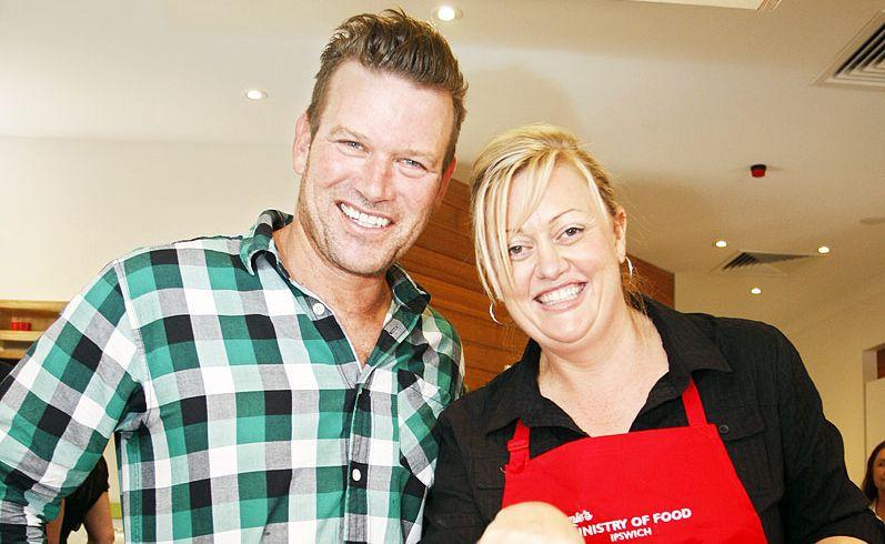 Ministry of Food ambassador Ben O'Donoghue and centre manager Danella Martin.