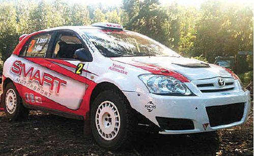Ryan Smart, inset, of Smart Motorsport has overhauled his Toyota Corolla for this year's Australian Rally Championships.