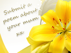 Send mum a poem for Mother's Day