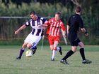 Pottsville's Davie Lonie wins possession. Photo: Blainey Woodham