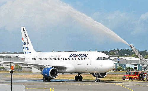 Strategic Airlines starts its new service to Gladstone on Monday.