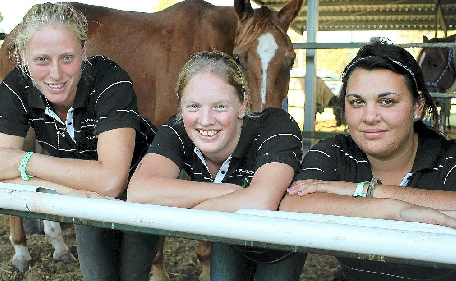 Beth Peaker, Laura Dempster and Danielle Kenny are three of the seven Kiwis who will contest the polocrosse carnival this weekend.