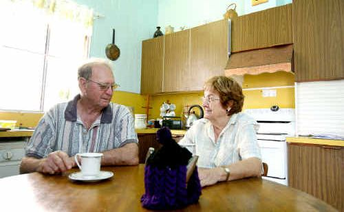 Brian and Bonnie Hull of Mackay were sitting having a cup of tea when the wall behind them and their house seemed to tremble as an earthquake hit between Ayr and Bowen.
