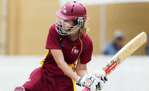 Rockhampton's Jessica Jonassen, in action for the Queensland Fire, has achieved cricketing success.