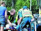 A learner driver is freed from a crash at a notorius black spot in Torbanlea.