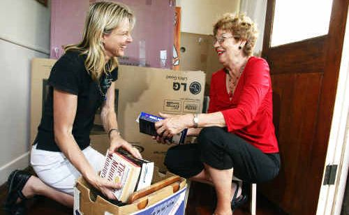 Karen Menheere of Neat 'n Sweet helps babyboomer Anne with her relocation.