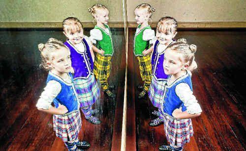 From front, Isla Gray, 4, Joan Mashiah and Chloe George, both 5.